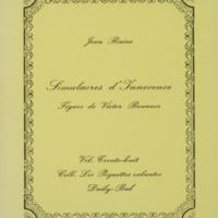 Simulacres d'innocence / Jean Raine - Figure de Victor Brauner