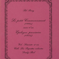 Le petit commencement (1965) suivi d'un Epilogue provisoire (1975) / Pol Bury