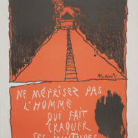 Ne méprisez pas l'homme qui fait craquer ses jointures / Pierre Alechinsky