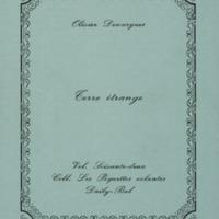 Terre étrange / Olivier Descargues