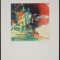 Xérographie originale rehaussée à la main par Pol Bury
