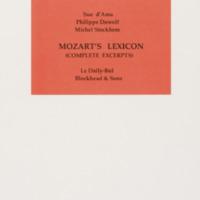 Mozart's lexicon (complete excerpts) / Sue d'Ama