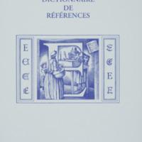 Dictionnaire de références : E / André Balthazar