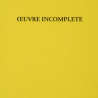 Oeuvre incomplète / Florent Mathieu