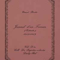 Journal d'un faiseur (Extraits) 1951-1952 / Ernest Pirotte