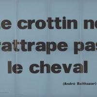 Le crottin ne rattrape pas le cheval / André Balthazar