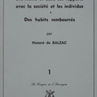De la cravate, considérée en elle-même et dans ses rapports avec la société et les individus suivi de Des habits rembourrés / Honoré de Balzac