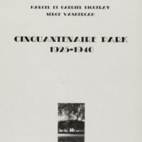 Cinquantenaire park 1925-1940 / Marcel et Gabriel Piqueray - Serge Vandercam - Postface de Jacques Sojcher