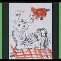 Dessin original rehaussé à l'aquarelle de Lionel Vinche